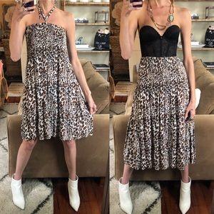 Vintage leopard skirt/dress